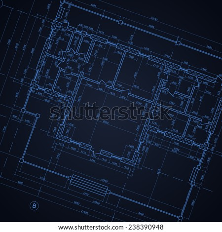 Architectural background. Vector illustration. - stock vector