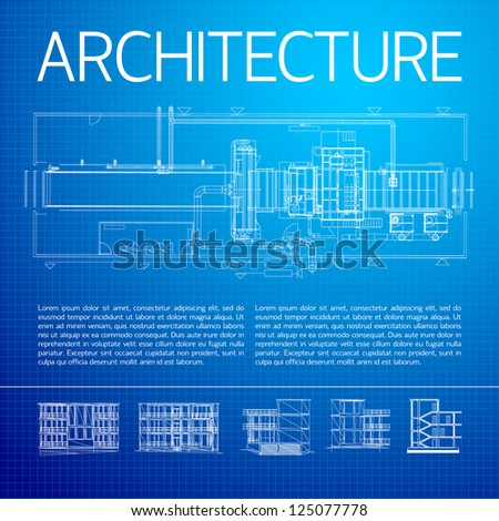 Architectural background. Vector Illustration, contains transparencies. - stock vector
