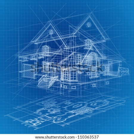 House blueprint stock images royalty free images for 3d house blueprints