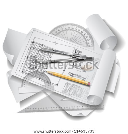 Drafting tools stock images royalty free images vectors for Architecture design tools free