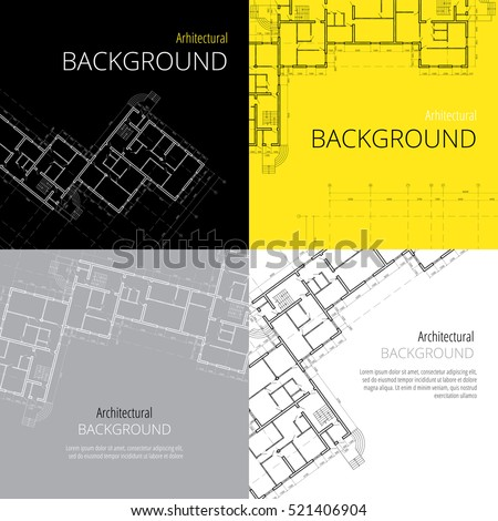 architectural backgrounds, vector set