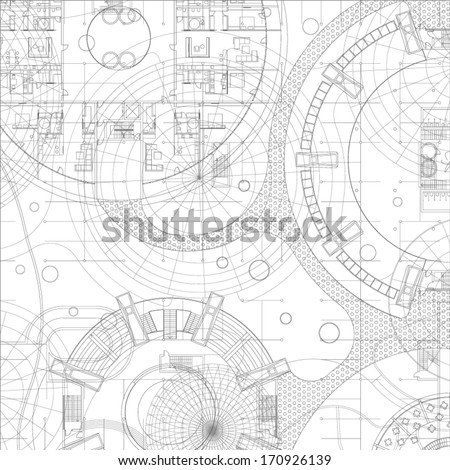 Architectural blueprint vector drawing background vector de architectural blueprint vector drawing background malvernweather Image collections