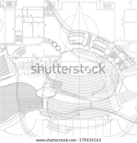 Architectural blueprint vector drawings stock vector 170926163 architectural blueprint vector drawings malvernweather Images