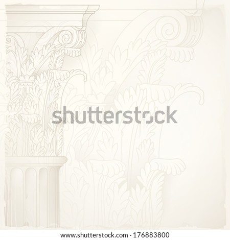 architectural design background,corinthian column - stock vector