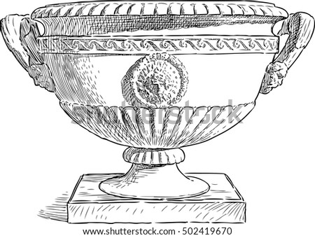 architectural detail in shape of a vase