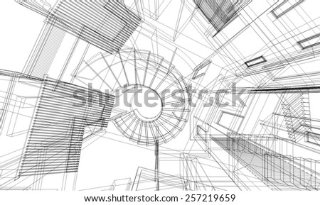 Architectural Drawing Building architectural drawing house building stock vector 257219659