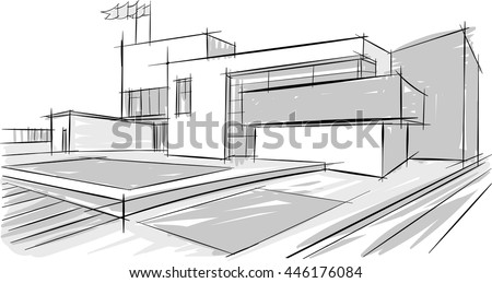 Architecture Buildings Drawings architectural drawing stock images, royalty-free images & vectors