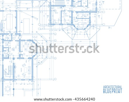 Architectural drawings on light background. Vector illustration - stock vector