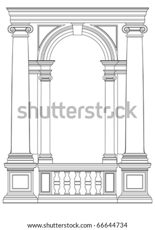 architectural element vector - stock vector