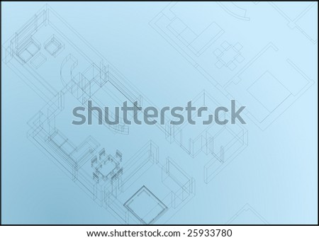 architectural print - vector