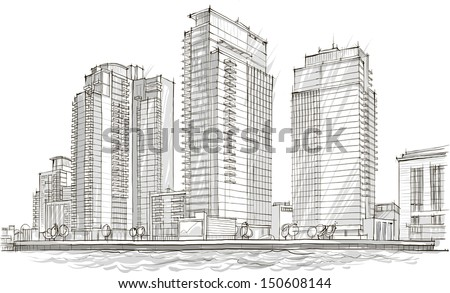 Architecture Building Drawing architecture sketch stock images, royalty-free images & vectors
