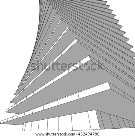 architecture abstract 3d