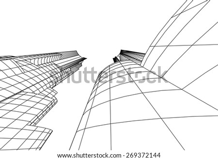 Architecture building. City background