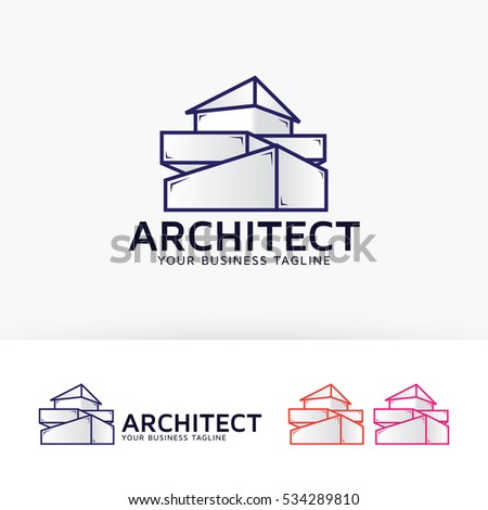 Architecture company construction architect vector logo for Architecture logo