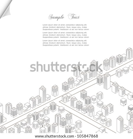 Architecture concept background. Vector city - stock vector