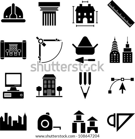 Architecture icons stock images royalty free images for Architecture icon