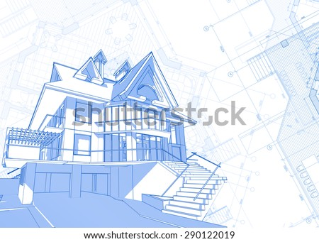 Architecture design blueprint house plans vector stock vector hd architecture design blueprint house plans vector illustration malvernweather Image collections