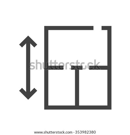 Architecture drawing blueprint icon vector image stock vector architecture drawing blueprint icon vector imagen also be used for housing malvernweather Choice Image