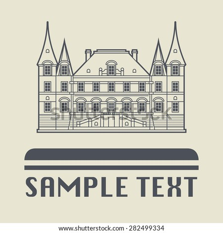 Architecture icon or sign, vector illustration - stock vector