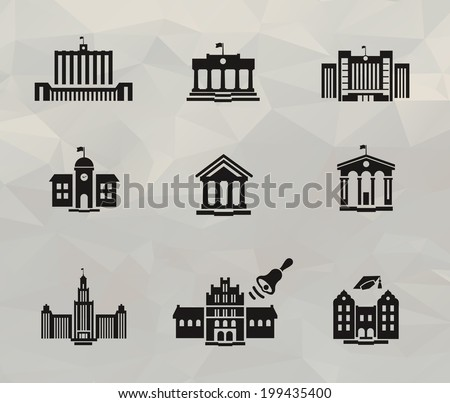 Architecture icons. Vector format - stock vector