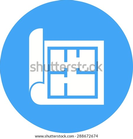 Floor plan drawing icon size stock vector 355540211 for Construction drawing apps