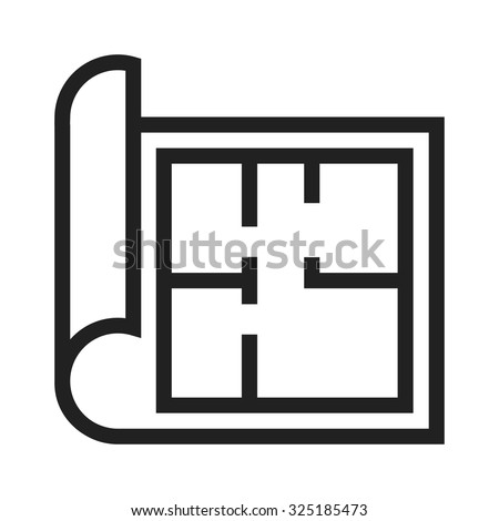 Architecture, Paper, Drawing Icon Vector Image. Can Also Be Used For  Construction,