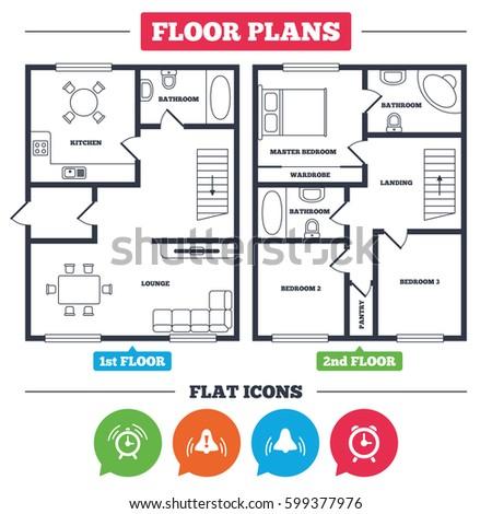 Architecture Plan Furniture House Floor Plan Stock Vector (2018 ...