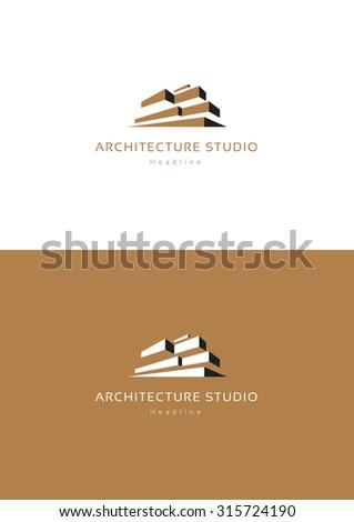 Architecture studio logo template. - stock vector