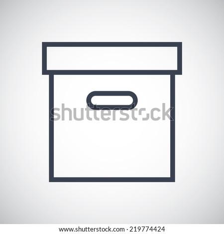 Archive box storage symbol icon. Vector pictogram. Simple flat metro design style. esp10 - stock vector