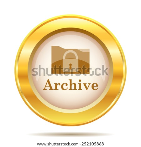 Archive icon. Internet button on white background. EPS10 vector.  - stock vector