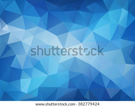 Arctic blue mosaic abstract background - beautiful polygonal illustration  - stock vector