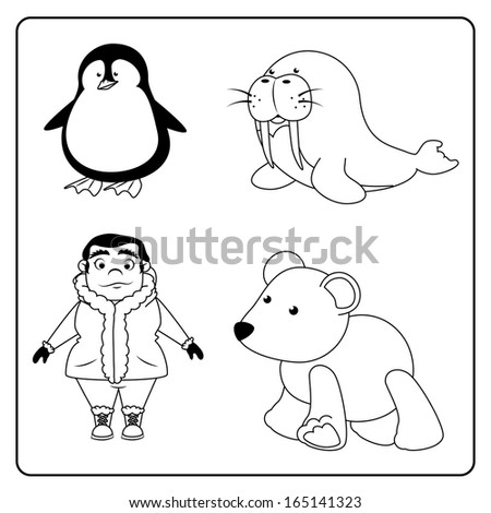 arctic design over white background vector illustration