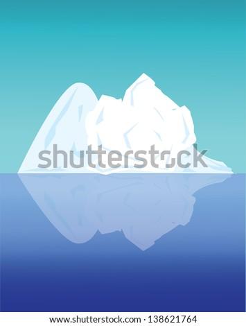 Arctic landscape - stock vector