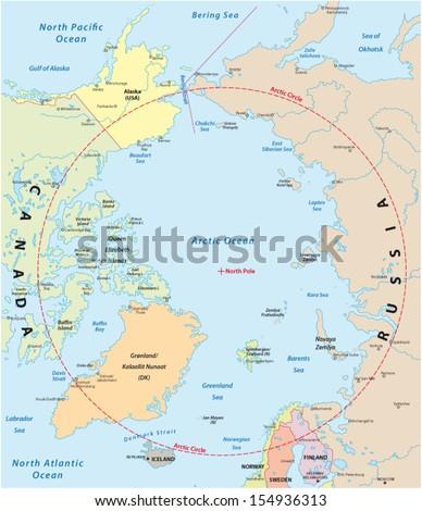 Arctic Map Stock Images RoyaltyFree Images Vectors Shutterstock - Arctic map