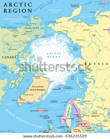 Arctic region political map countries capitals vectores en stock arctic region political map with countries capitals national borders important cities rivers gumiabroncs Images