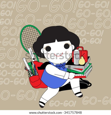 Are We Pushing Kids Too Hard Character illustration - stock vector