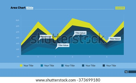 Area Chart Slide Template 1 - stock vector
