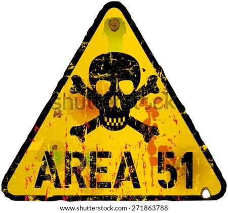 area  warning sign, vector illustration - stock vector