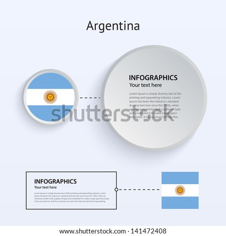 Argentina Country Set of Banners on gray background for Infographic and Presentation. Vector illustration. - stock vector