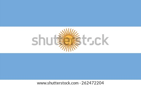 argentina Flag for Independence Day and infographic Vector illustration. - stock vector