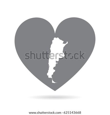 Argentinian Map Stock Images RoyaltyFree Images Vectors - Argentina map shape
