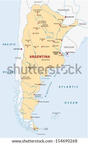 Argentina Map Stock Images RoyaltyFree Images Vectors - Argentina map images
