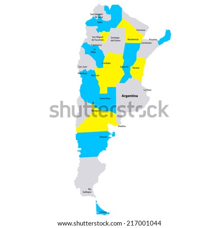 South America Map Infographic Slide Presentation Stock Vector - Argentina map small
