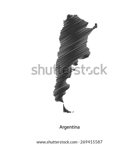 Argentina map icon for your design, concept Illustration.