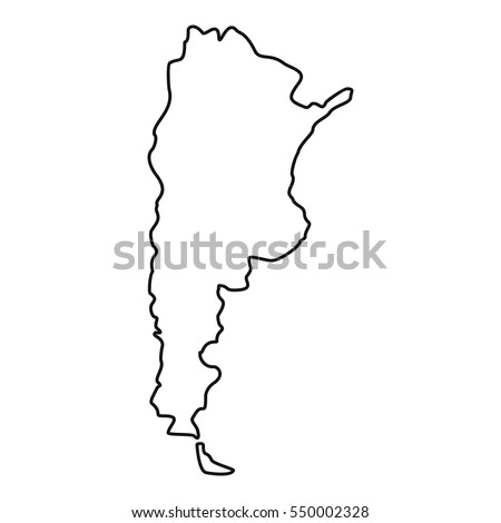 Map Black Outline Argentina Stock Vector Shutterstock - Argentina map outline