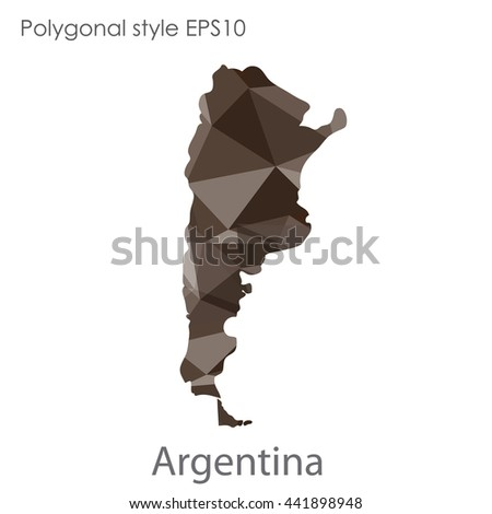 Argentina map in geometric polygonal style.Abstract gems triangle,modern design background. Vector illustration EPS10 - stock vector