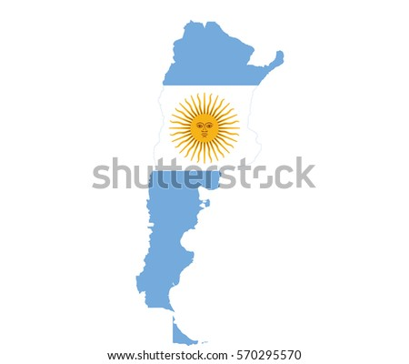Map Argentina Stock Vector Shutterstock - Argentina map vector free