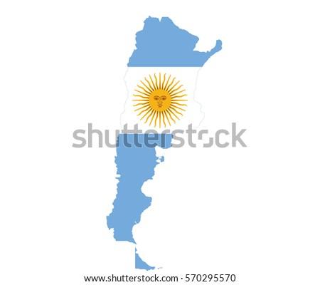 Map Argentina Stock Vector Shutterstock - Argentina map vector