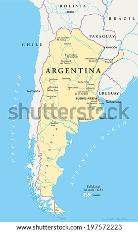 Argentina Map Stock Images RoyaltyFree Images Vectors - Argentina map cities