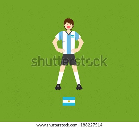 Argentina Soccer Tables  - stock vector